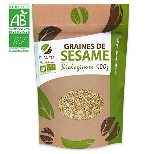 Graines de Sésame Bio - 500g (Sesamum indicum) - Blond - Complet