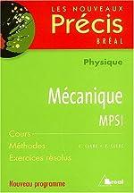 Mécanique MPSI de C Clerc