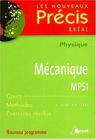 Mécanique MPSI