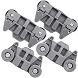 APEX Dishwasher Premium Wheels Lower Rack W10195416 for WhirlPool Kenmore Kitchenaid Pack of 4
