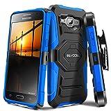Galaxy J3 (2016) / Galaxy Express Prime / J3 V Case, Evocel [New Generation Series] Belt Clip Holster, Kickstand, Dual Layer for Samsung Galaxy J3 (Model No J320) / Galaxy Sky/Galaxy Sol, Blue