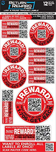 Everyone Loses Things! 12 Return Tags, WE Get Your Lost Items Back! Personal Information is Hidden