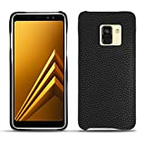 Noreve Coque Cuir Samsung Galaxy A8 (2018) - Coque arrière - Ebène (Sleek P C12 - Black) - Cuir...