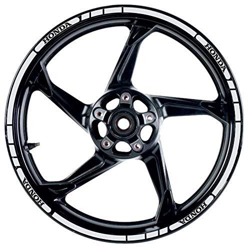 Kit de pegatinas para llanta Honda Retro reflectantes, para instalar en la rueda de tu moto para una mejor visibilidad, color gris