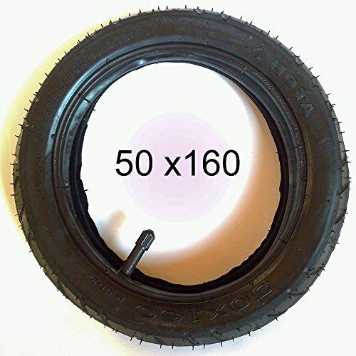 Reifen Mantel + Schlauch 9 1/2 Zoll DIN 50 x 160
