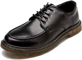 Men's Fashion Oxford Casual Retro Brush Color Round Head Duncical Arse Workwear Shoes casual shoes (Color : Black, Size : 42 EU)
