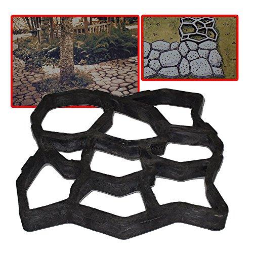 Maxeuro Betonform zum selber gießen von Gehwegen/Trittsteinen 58x58x5,5 cm - Schalungsform, Gießform