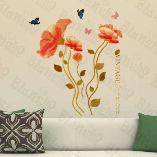 Vintage Blossom – Patchs Rouge Stickers muraux Stickers Décoration intérieure