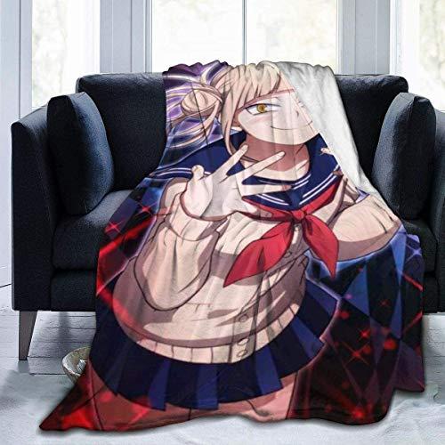 """N/A"" Manta súper suave y ligera de Himiko Toga, colcha de verano para cama, sofá, 201 x 152 cm, grande para adultos"