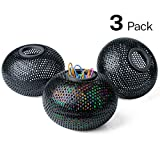 MaxGear Paper Clip Holder Magnetic Paperclip Holders Desk Paper Clip Organizer Mesh Paperclip Dispenser Magnetic, 3 Pack