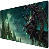 Bimor Extended Gaming Mouse Mat / Pad - Large, Wide (Long) Custom Professional Mousepad, Stitched Edges, Ideal for Desk Cover, Computer Keyboard, PC and Laptop (90x40 Illidan Stormrage14)