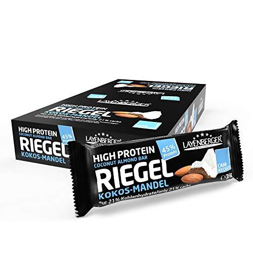 Layenberger High Protein Riegel Kokos-Mandel, (18 x 35 g)