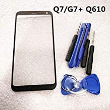 Outer Front Screen Glass Lens Replacement for LG Q7 Q7+ Plus Q610 with OCA (NO LCD and Touch Digitizer)