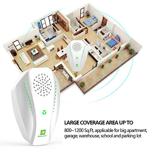 Neatmaster Ultrasonic Pest Repeller Electronic Plug in Indoor Pest Repellent, Pest Control for Mice, Mosquito, Ant, Spider, Bug, Roach, Human and Pet Safe (White)