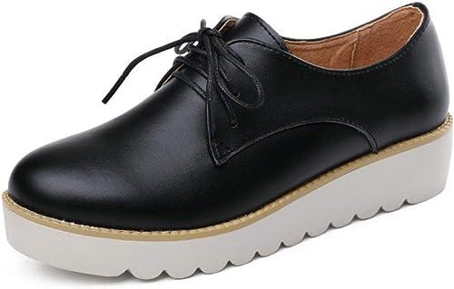 ZCW Chaussures Occasionnelles Occasionnelles polyvalentes , Chaussures pour Femmes Occasionnelles, Chaussures pour Hommes au Royaume-Uni, Chaussures pour Femmes Plates, Chaussures en Cuir à Semelles épaisses pour f
