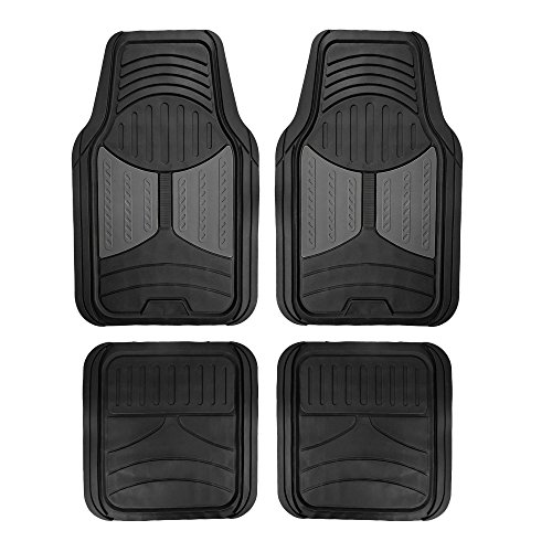 FH Group F11313GRAY Rubber Floor Mat (Gray Full Set Trim to Fit Mats)