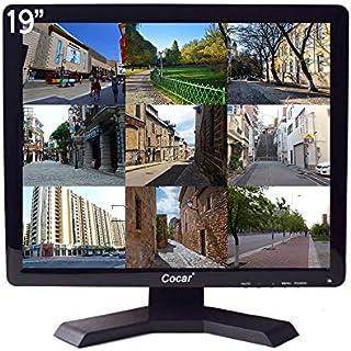 19インチ CCTV モニター VGA HDMI AV BNC、4:3 HDディスプレイ(LED バックライト)LCD 安全スクリーン USB ドライブプレーヤー付き 家庭/店舗用監視カメラ STBセットトップボックス PC または他のビデオ設...