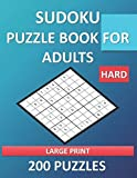 Hard Sudoku Puzzle Book for Adults - Large Print - 200 Puzzles: Brain Games -...