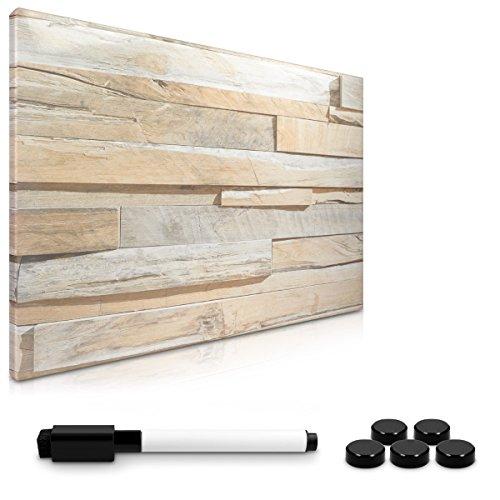 Navaris Memo Board Lavagna Magnetica - lavagnetta scrivibile cancellabile con Pennarello e Calamite bacheca 40x60cm Stone Wall - Diversi Design