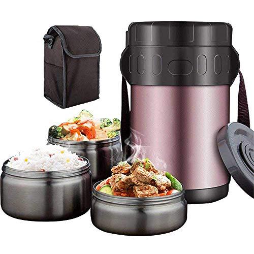 QYHSS Warmhaltebox, Isolier Speisegefäß Edelstahl Thermobehälter, Hochwertiger Isolierbehälter Box, Lunchbox Thermogefäß, für Warme Speisen, Babynahrung, Essen, Suppe (1.5L/2.0L)