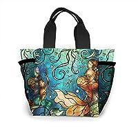 人魚 ランチバッグ ミニバッグ トートバッグ 弁当袋 繰り返し使用 ショッピングバッグ 折りたたみ 買い物 ハンドバッグ 保温 保冷