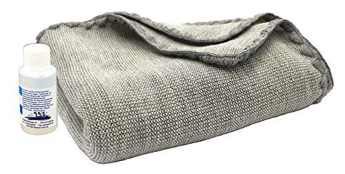 Disana Melange-Babydecke 80 x 100 cm aus Merino-Schurwolle kbT, grau/natur melange inkl. Feinwaschmittel Wiki
