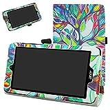 Acer Iconia One 7 B1-780 / B1-790 Custodia,Mama Mouth slim sottile di peso leggero con supporto in Piedi caso Case per 7' Acer Iconia One 7 B1-780 / B1-790 Android Tablet,Love Tree