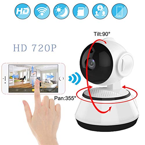 Babyfoon Met Camera En Night Vision, HD 720P Panoramic Indoor Camera Draadloze Wifi IP Security Surveillance System For Home/Winkel/Baby/Dier Monitor