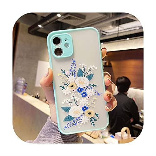 3D alivio lavanda flor teléfono caso para iPhone 12 Mini 11 Pro X XS Max XR 8 7 Plus SE 2020 transparente mate duro PC contraportada c-para iphone XS Max