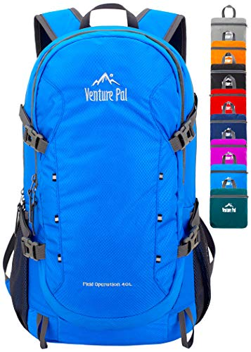 Venture Pal 40L Lightweight Packable Travel Hiking Backpack Daypack, B2, Blue, One Size