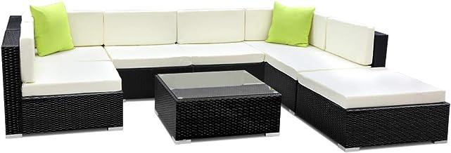 Gardeon 8 Piece Sofa Set Outdoor Furniture Modular Lounge Garden Patio