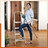 Bathla Advance 4-Step Foldable Aluminium Ladder with Sure-Hinge Technology (Orange)
