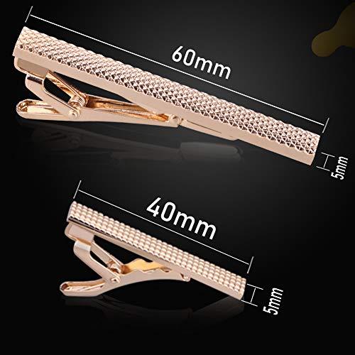 『DeDeStore カフスボタン ネクタイピン おしゃれ メンズ 高級 カフス ネクタイ 結婚式 ビジネス ギフトボックス付き 真鍮 (セット)』の4枚目の画像