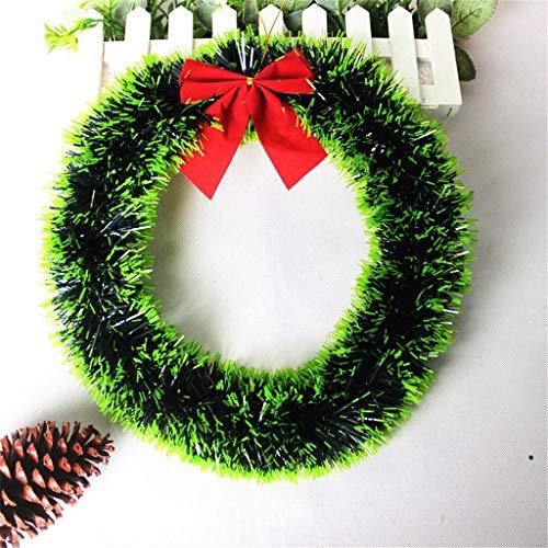 CROSYO 1 unid Navidad Cuelga Guirnalda 35cm Navidad Guirnalda Puerta Adorno Adorno Guirnalda Decoración (Color : B)