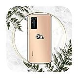 Coque transparente pour Huawei P honor 8 10i 20 30 40 smart 2019-a11-huawei p30 pro motif panda chat...