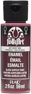 FolkArt Enamel Glass & Ceramic Paint in Assorted Colors (2 oz), 4007, Berry Wine