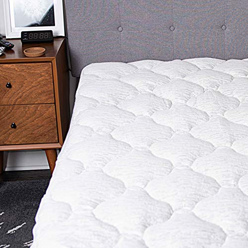 Cooling Bamboo Mattress Pad Cover - Extra Thick Quilted...