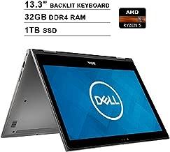 2019 Newest Dell Inspiron 13 7000 2-in-1 13.3 Inch Touchscreen FHD 1080p Laptop (AMD 4-Cores Ryzen 5 2500U up to 3.6 GHz, 32GB DDR4 RAM, 1TB SSD, AMD Radeon Vega 8, Backlit Keyboard, Windows 10)