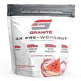 Granite® GX Pre-Workout Supplement (Watermelon) Advanced Formula for Pump, Focus, Energy, Performance | Citrulline, Taurine, Lions Mane, Tyrosine, Teacrine, Betaine, Carnosyn, Creatine | Vegan, USA