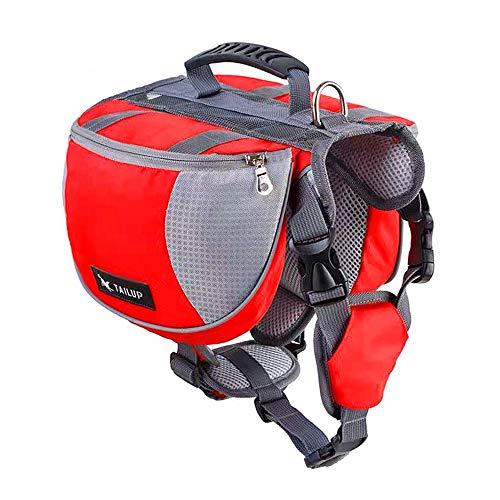 U/N Alforjas para perros Pack-Fashion Outdoor Dog Mochila, bolsa de silla de montar de perro para viajes camping senderismo