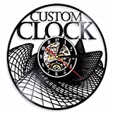 SHILLPS Custom Vinyl Record Wall Clock Custom Order Your Design Your Logo Your Personal Personalized Vinyl Wall Clock Watches with Led