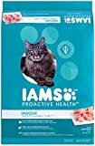 IAMS PROACTIVE HEALTH Weight & Hairball Care Dry Cat Food for Adult Indoor Cat Healthy Weight with Chicken, Turkey, and Garden Greens, 16 lb. Bag