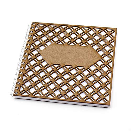 Lattice houten navulbare tijdschrift, Notebook, schetsboek, fotoalbum voor schrijven, schetsen en foto's