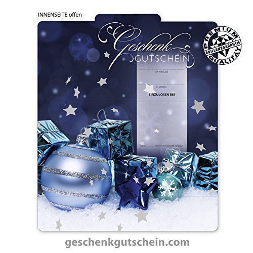 """10 Stk. Premium Weihnachts-Geschenkgutscheine Gutscheine zum Falten """"Multicolor"""" für alle Branchen geeignet X285 pos-hauer"""
