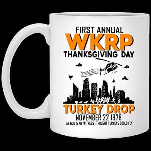 NA Primo annuale WKRP Thanksgiving Day Turkey Drop 22 Novembre 1978 Tazza da caffè