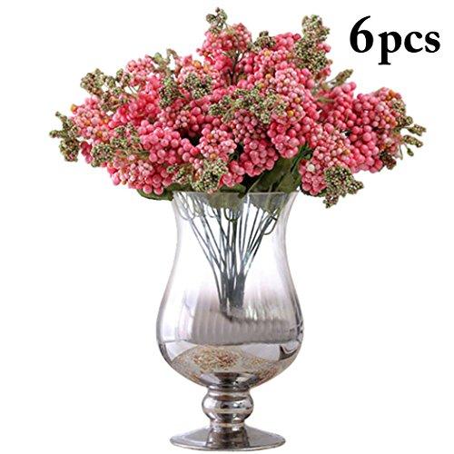 outgeek 3PCS Artificial Planta Decoración De Flores Planta Rama Artificial Gypsophila Paniculata Fake Planta Flor