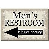 Fhdang Decor Señal de Metal para el baño de los Hombres, señal de Piscina para decoración del hogar, señal de Restaurante, señal de baño, señal de Aluminio para la Izquierda, 8 x 12 Pulgadas