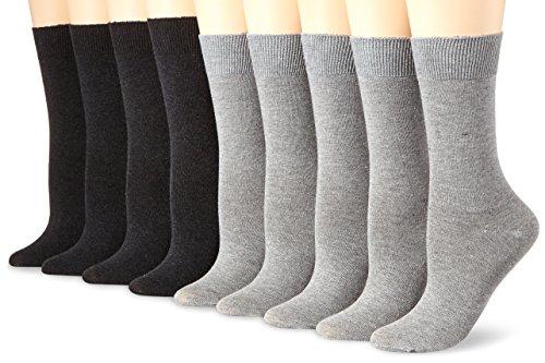 Camano Damen 9106 Socken, Grau (L.Grey Mel. (10) + Anthra 0010), 35/38 (9er Pack)