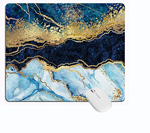 PROEVER Blue Cracked Marbling Mouse Pad NonSlip Rubber Base Mousepad for Computer Gamer Laptop amp Desktop