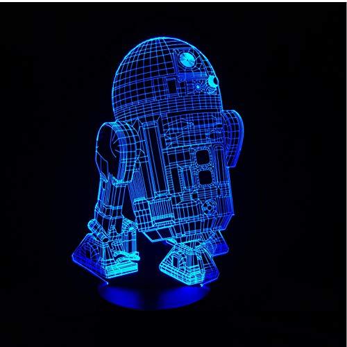MRQXDP Robot 3D Visual LED Nachtlampjes Nieuwe Action Figure 7 kleuren voor kinderen vrienden fans als slaapkamer tafel bureaulamp Abajur